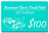 1987 Gift certificate - $100.00 value