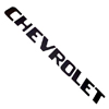 1957 Tailgate decals, black block letters