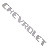 1957 Tailgate decals, chrome block letters
